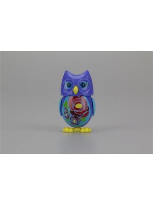 Сова с домиком, фиолетовая голубыми крыльями Silverlit. Цвет: голубой, фиолетовый