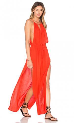 Платье this is everything Stillwater. Цвет: оранжевый
