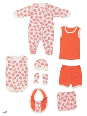 Комплекты нательные для малышей KIDONLY. Цвет: оранжевый