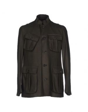 Куртка WOOSTER + LARDINI. Цвет: зеленый-милитари