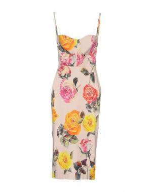 Платье до колена NORA BARTH. Цвет: светло-розовый