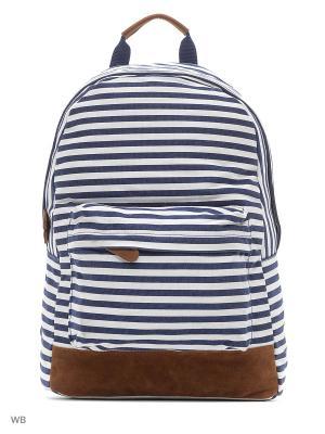 Рюкзак Button Blue. Цвет: темно-синий