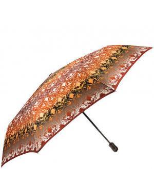 Складной зонт с системой двойной антиветер Doppler. Цвет: коричневый