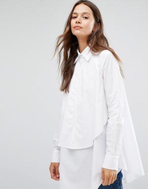 Gestuz Двухслойная рубашка. Цвет: белый