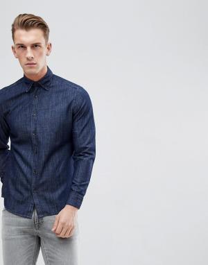 Esprit Джинсовая рубашка зауженного кроя. Цвет: синий