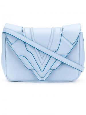 Маленькая сумка через плечо Felina Elena Ghisellini. Цвет: синий