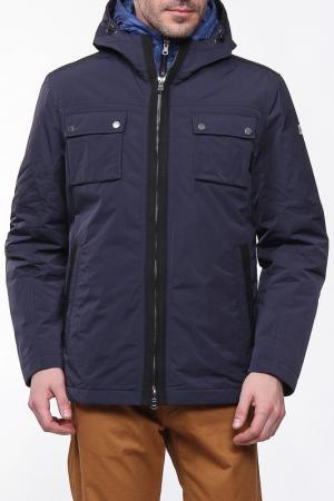 Куртка на молнии с капюшоном Otto Kern. Цвет: синий