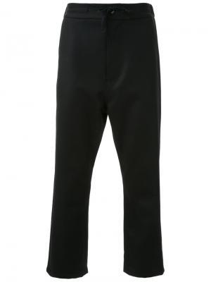 Укороченные брюки на шнурке Fad Three. Цвет: чёрный