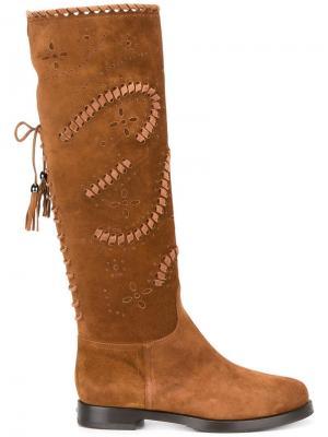 Сапоги со шнуровкой Le Silla. Цвет: коричневый