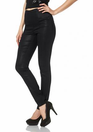 Моделирующие джинсовые легинсы Arizona. Цвет: черный
