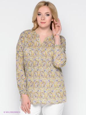 Блузка Vis-a-vis. Цвет: бежевый, желтый