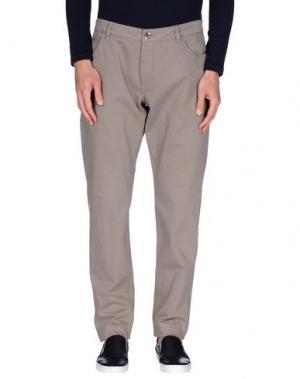 Повседневные брюки FRADI. Цвет: голубиный серый