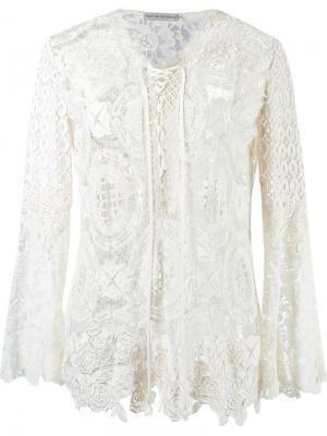 Lace tunic Martha Medeiros. Цвет: белый