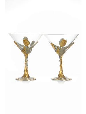 Набор бокалов для Мартини Тюльпан Eagle Pewter. Цвет: золотистый, серебристый