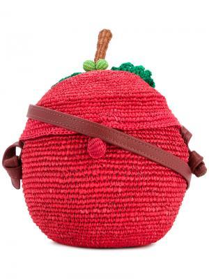 Сумка в виде яблока Sensi Studio. Цвет: красный