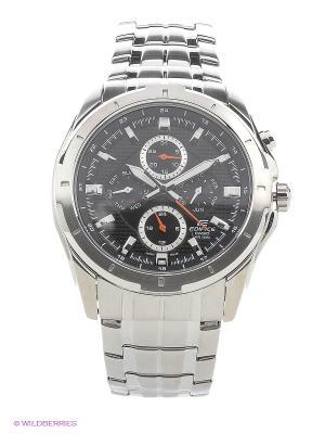 Часы EDIFICE EF-328D-1A CASIO. Цвет: серебристый, черный