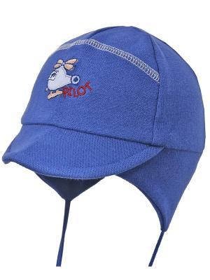 Шапка-ушанка Elo-Melo. Цвет: синий, серый меланж, красный