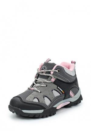 Ботинки трекинговые Beppi. Цвет: серый