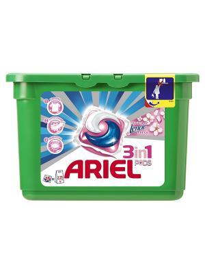 Гель в растворимых капсулах Liquid Capsules Touch of Lenor Fresh 15X28.8г Ariel. Цвет: зеленый