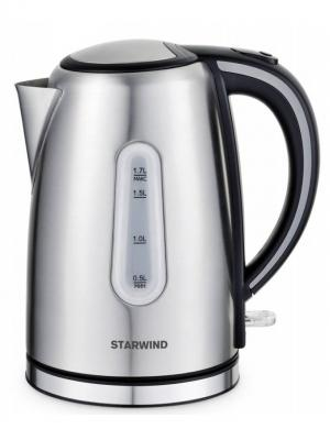 Чайник Starwind SKS5540, серебристый матовый. Цвет: серый