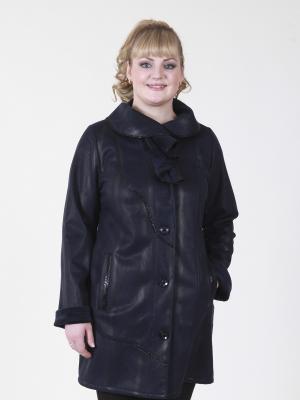Пальто Шарлиз VIKO. Цвет: синий