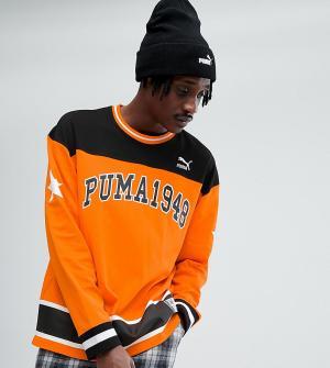 Puma Оранжевый свитшот эксклюзивно для ASOS. Цвет: оранжевый