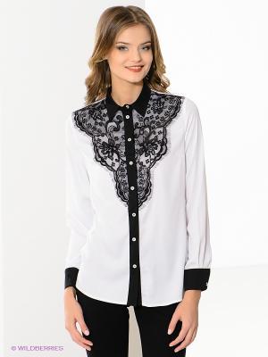 Блузка MONDIGO. Цвет: белый, черный