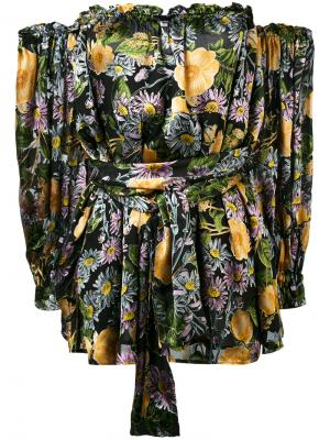 Платье с цветочным принтом For Love And Lemons. Цвет: многоцветный
