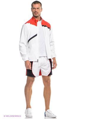 Куртка Wilson. Цвет: белый, красный