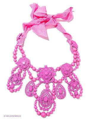 Колье Milana Style. Цвет: розовый