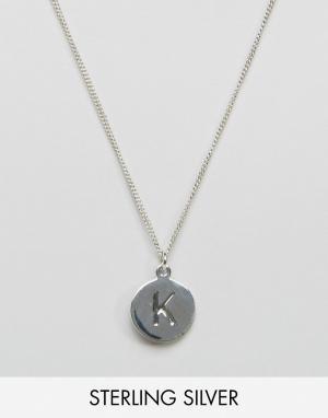 Fashionology Серебряное ожерелье с буквой K. Цвет: серебряный