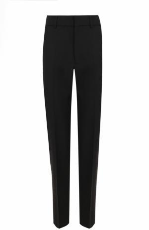 Шерстяные брюки прямого кроя со стрелками Bally. Цвет: черный