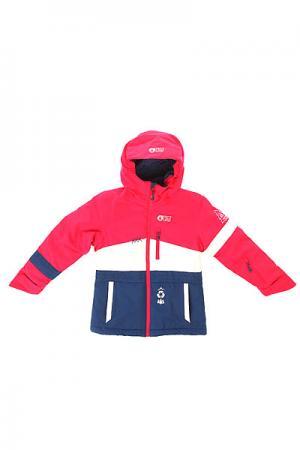 Куртка детская  Spice Pink White Dark Blue Picture Organic. Цвет: синий,фиолетовый,белый