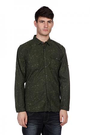 Рубашка  Ornament Green Converse. Цвет: зеленый