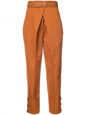 Belted Straight Pant with Cuff Proenza Schouler. Цвет: коричневый