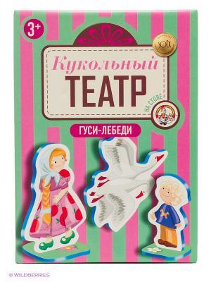 Гуси-лебеди. Кукольный театр на столе Десятое королевство. Цвет: зеленый, розовый