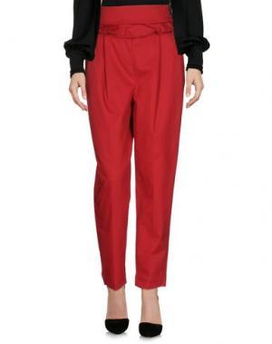 Повседневные брюки NINEMINUTES. Цвет: красный