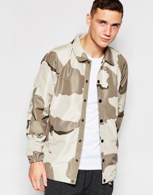 G-Star Спортивная куртка со сплошным камуфляжным принтом. Цвет: бежевый