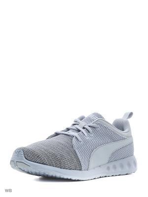 Кроссовки Carson Runner Knit EEA Puma. Цвет: серый
