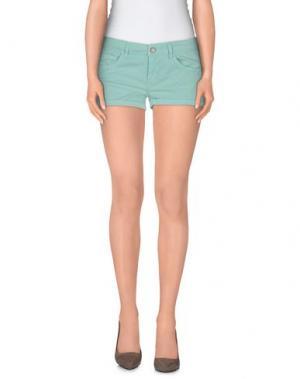 Повседневные шорты CLARK JEANS. Цвет: светло-зеленый