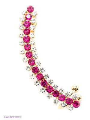 Серьга-каффа Lovely Jewelry. Цвет: розовый
