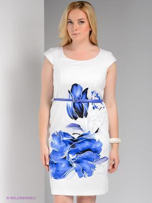Платье Bize. Цвет: белый, синий