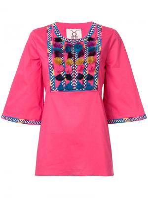 Блузка Nilu Figue. Цвет: розовый и фиолетовый