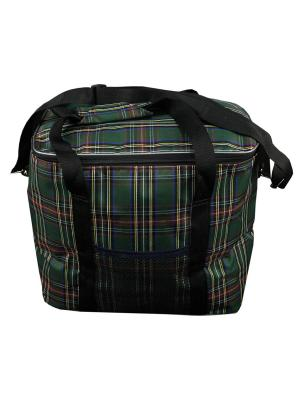 Термосумка большая с карманом Метиз. Цвет: зеленый, красный