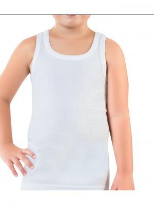 Майка для мальчиков Oztas kids' underwear. Цвет: белый