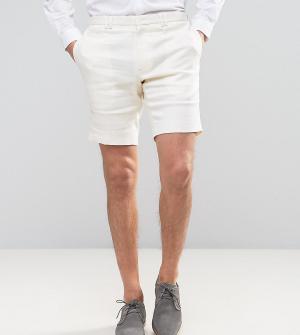 Noak Льняные шорты скинни. Цвет: белый