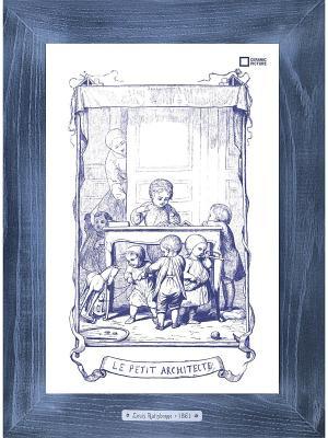Картина-сувенир Louis Ratisbonne Le Mouton Ceramic Picture. Цвет: темно-фиолетовый, серебристый, серый