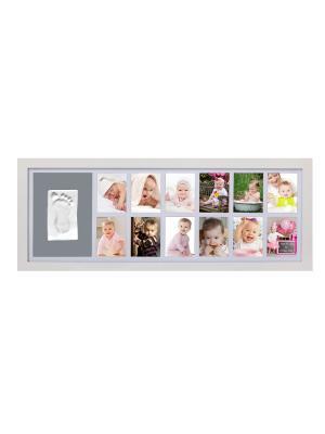 Рамка для детского отпечатка 12 месяцев белая Adora. Цвет: белый