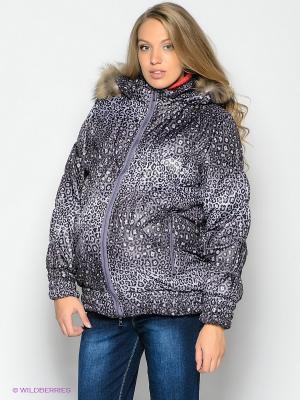 Куртка EUROMAMA. Цвет: фиолетовый, черный