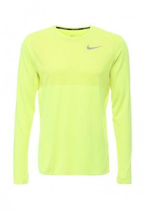 Лонгслив Nike. Цвет: желтый